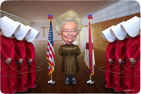 Kay Ivey, Aunt Lydia, handmaids, abortion