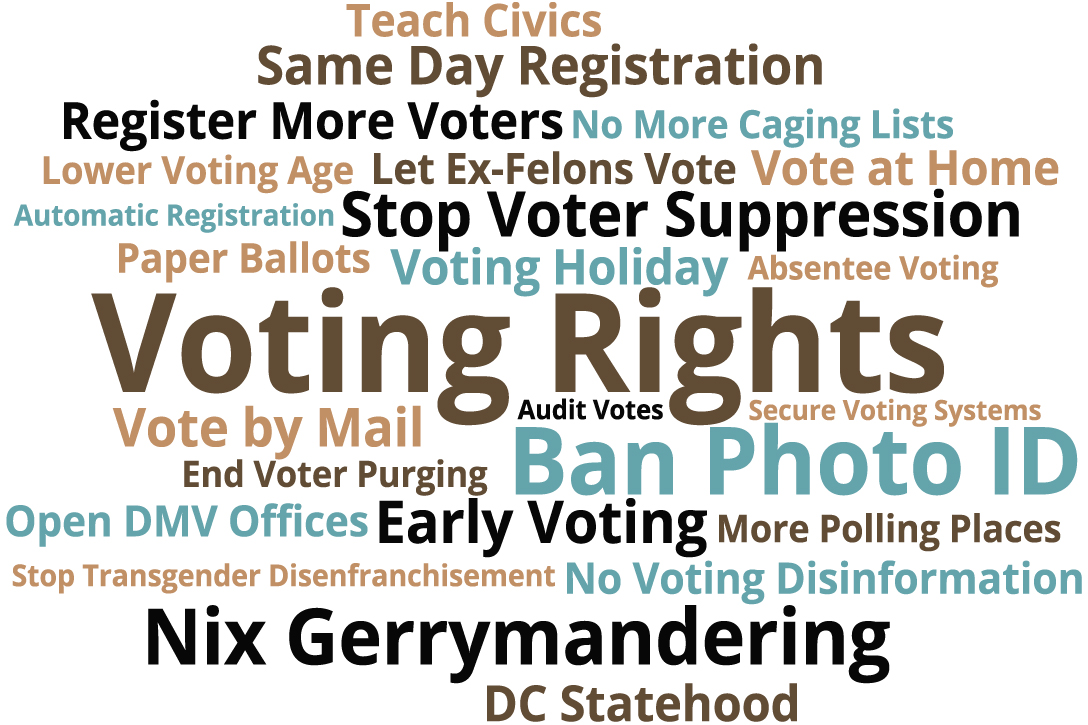 voting rights word cloud