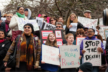 Gun violence, protest