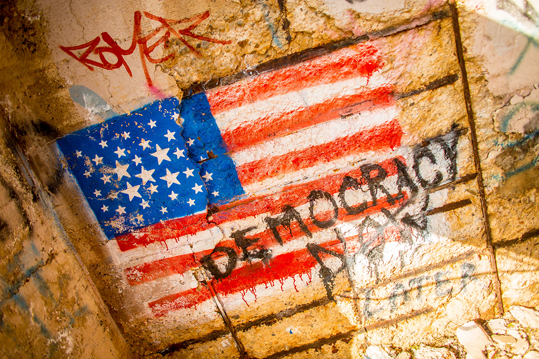 democracy graffiti