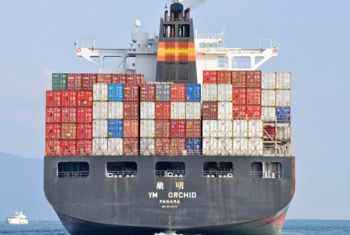 Trade podcast container ship
