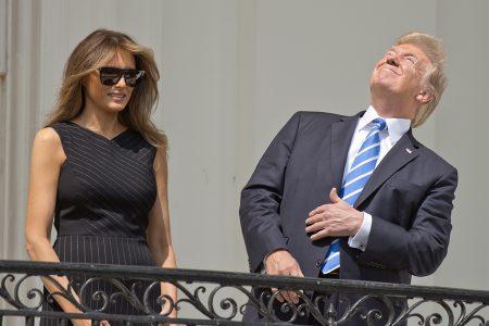 Donald Trump, Melania Trump, eclipse