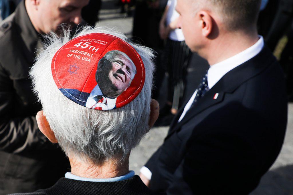 Trump, yarmulke