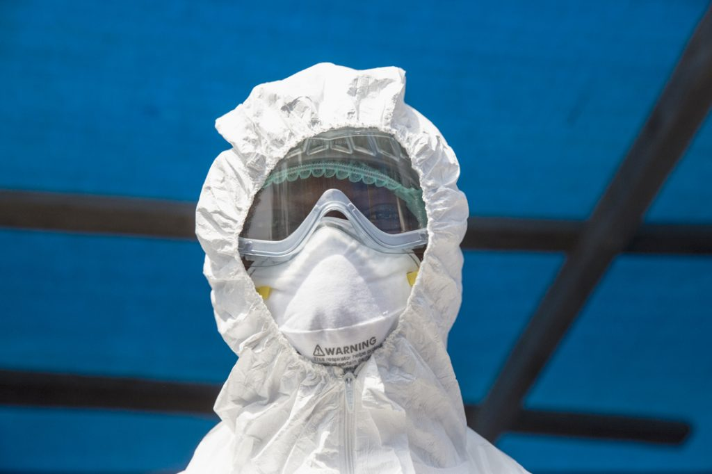 Health Worker at Ebola isolation ward in Kabala, Sierra Leone