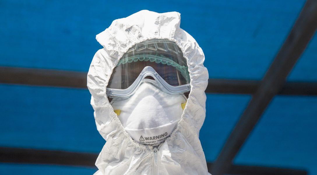 Health Worker at Ebola isolation ward in Kabala, Sierra Leone