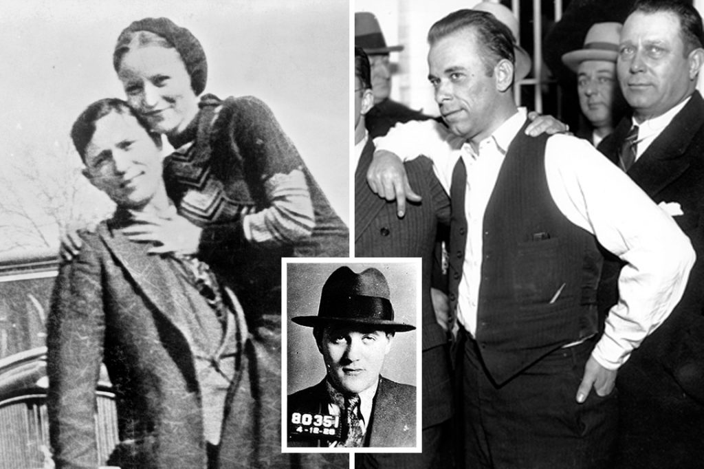 Bonnie and Clyde, Bugsy Siegel, John Dillinger