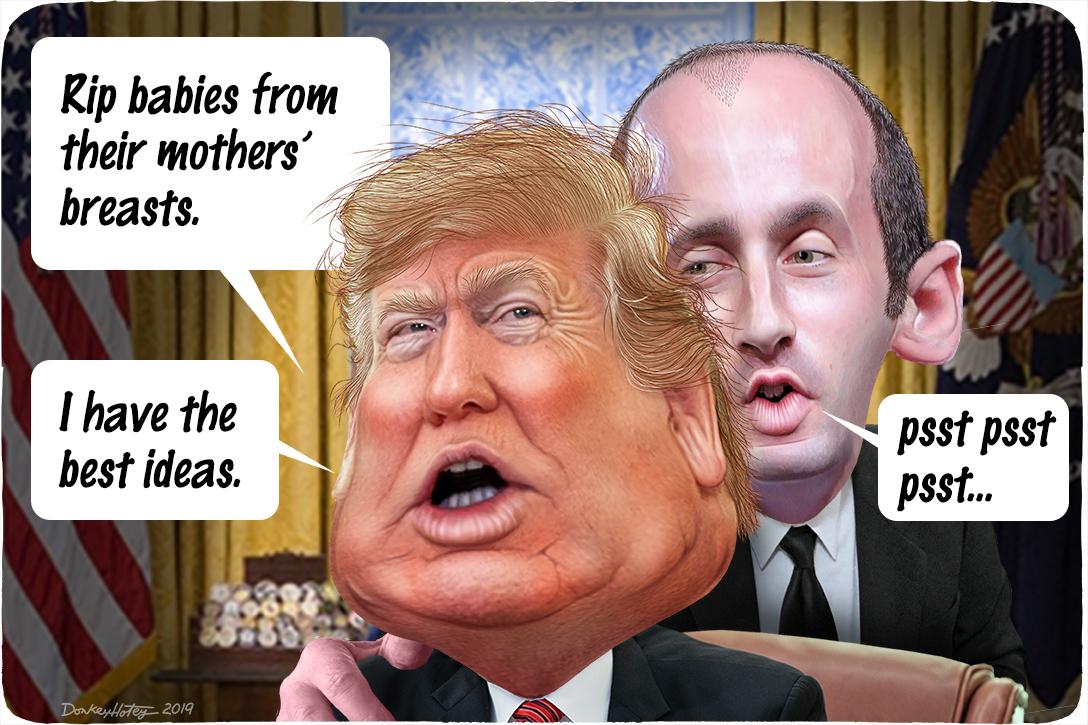 Donald Trump, Stephen Miller, President