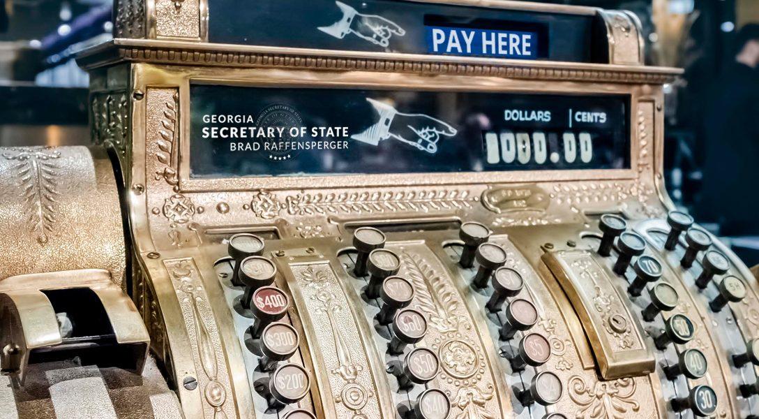 Georgia Secretary of State Seal, Cash Register
