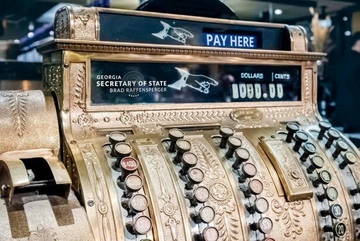 Georgia Secretary of State Seal, Cash Register