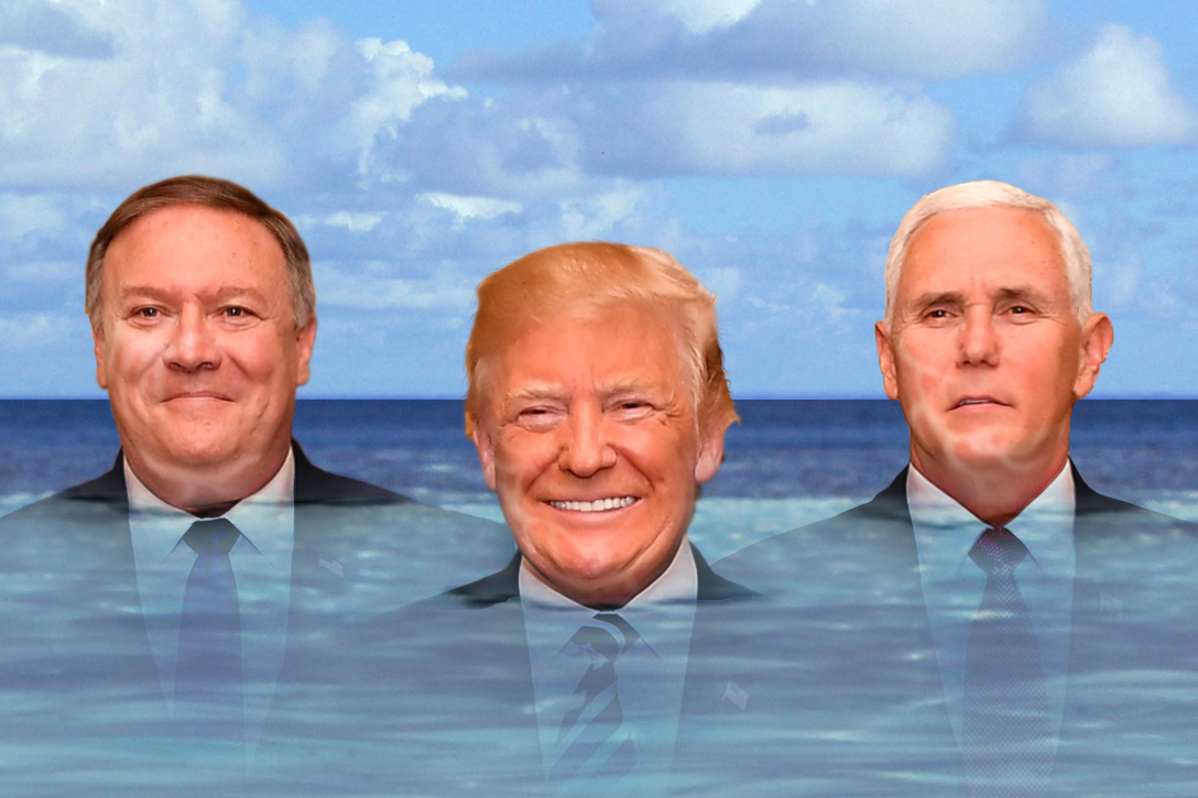Donald Trump, Mike Pence, Mike Pompeo