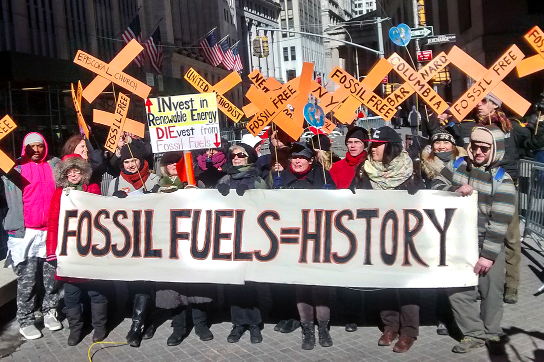 divest from oil, protest