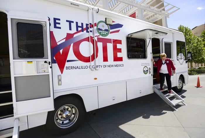 mobile voting registration unit