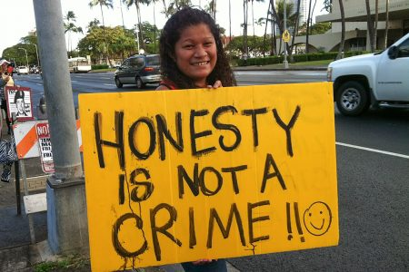 honesty is not a crime