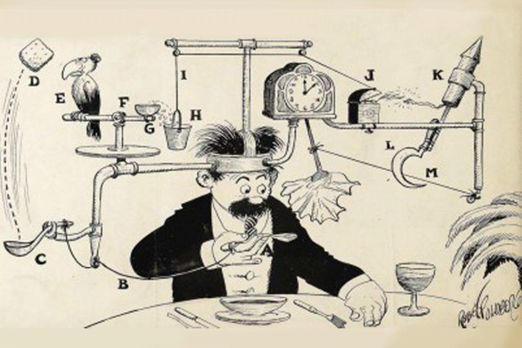 Rube Goldberg Self-operating Napkin