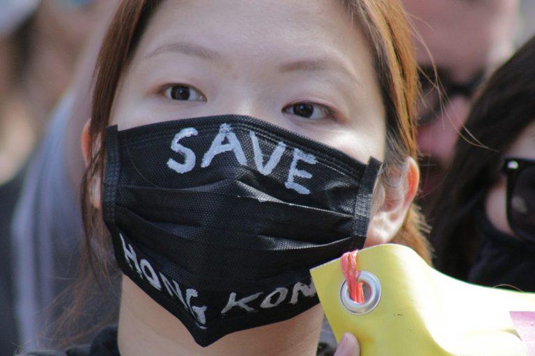 London, protests, Hong Kong