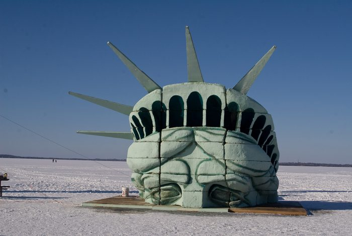 Statue of Liberty on Lake Mendota