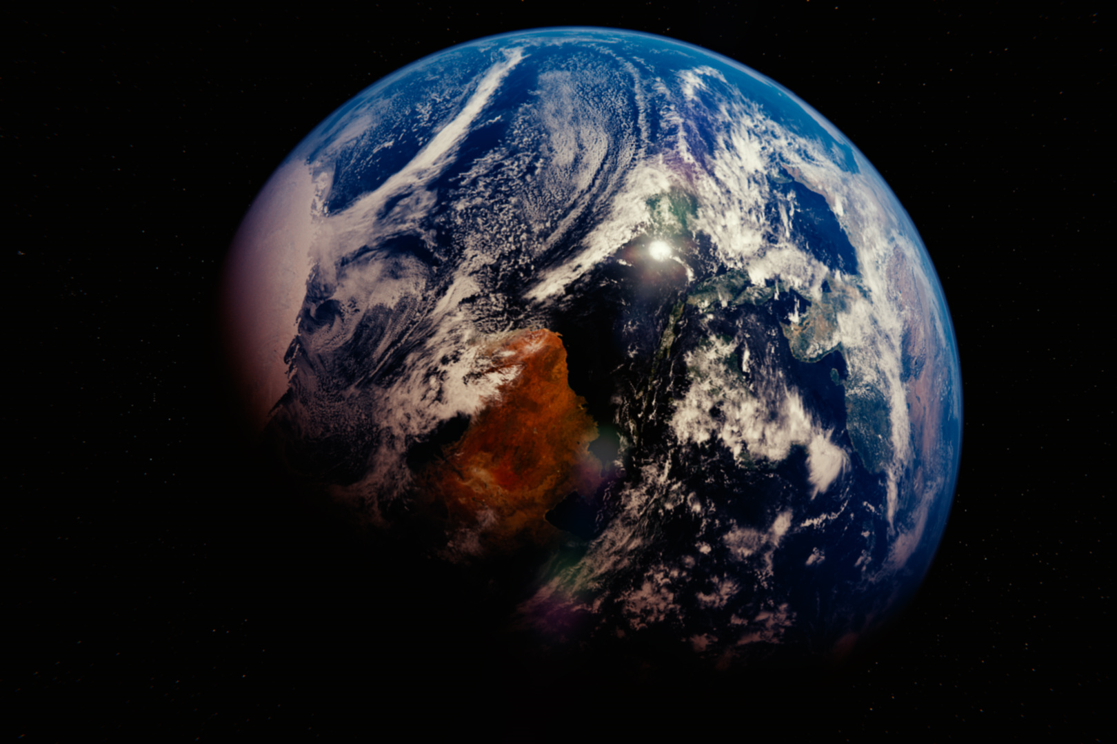 climate change, 3D world map project