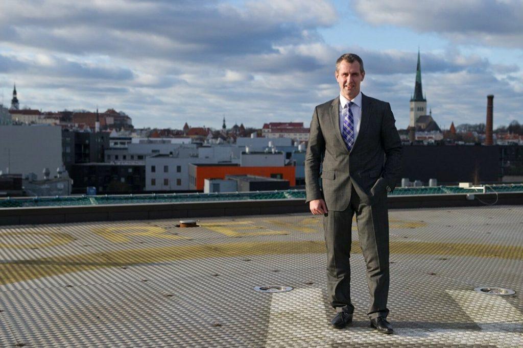 Aivar Rehe, helicopter pad, Danske Bank, Tallinn, Estonia