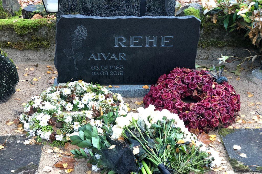 Aivar Rehe, grave
