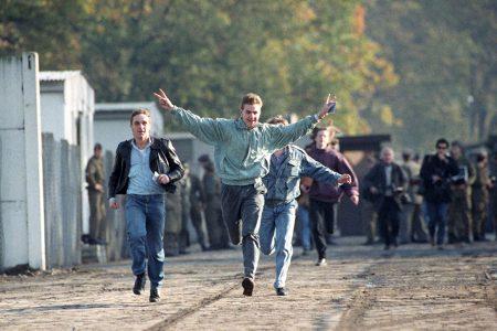 Berlin, border crossing, 1989