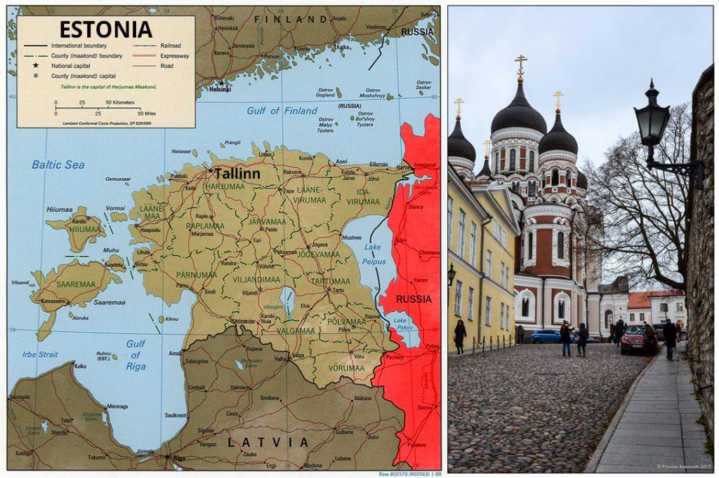map, Estonia