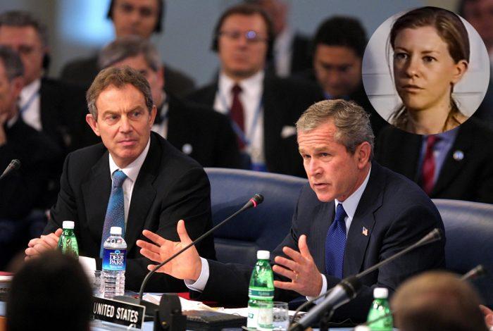 George W. Bush, Tony Blair, Katherine Gun