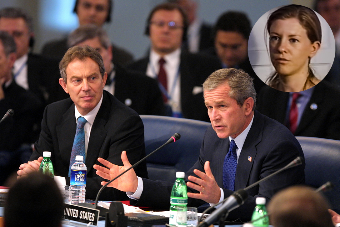 George W. Bush, Tony Blair, Katherine Gun