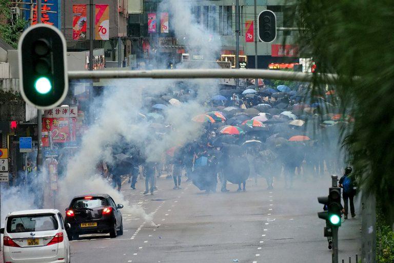 Hong Kong, anti-mask law, protest