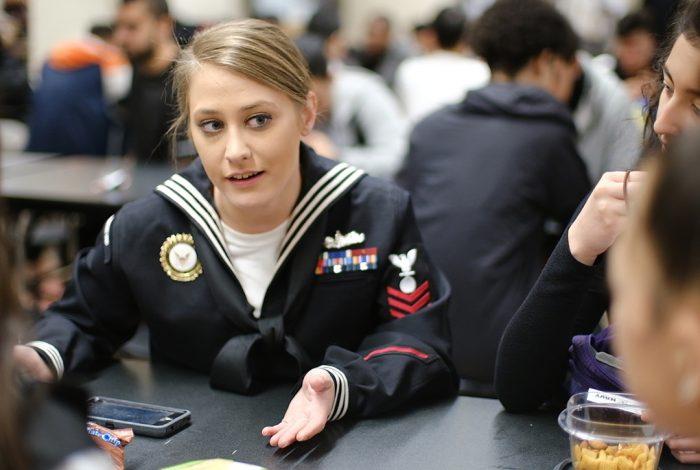 Navy, recruiter, high school