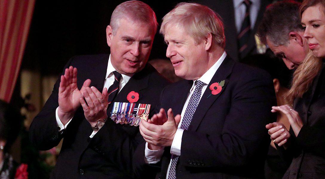 Prince Andrew, Boris Johnson
