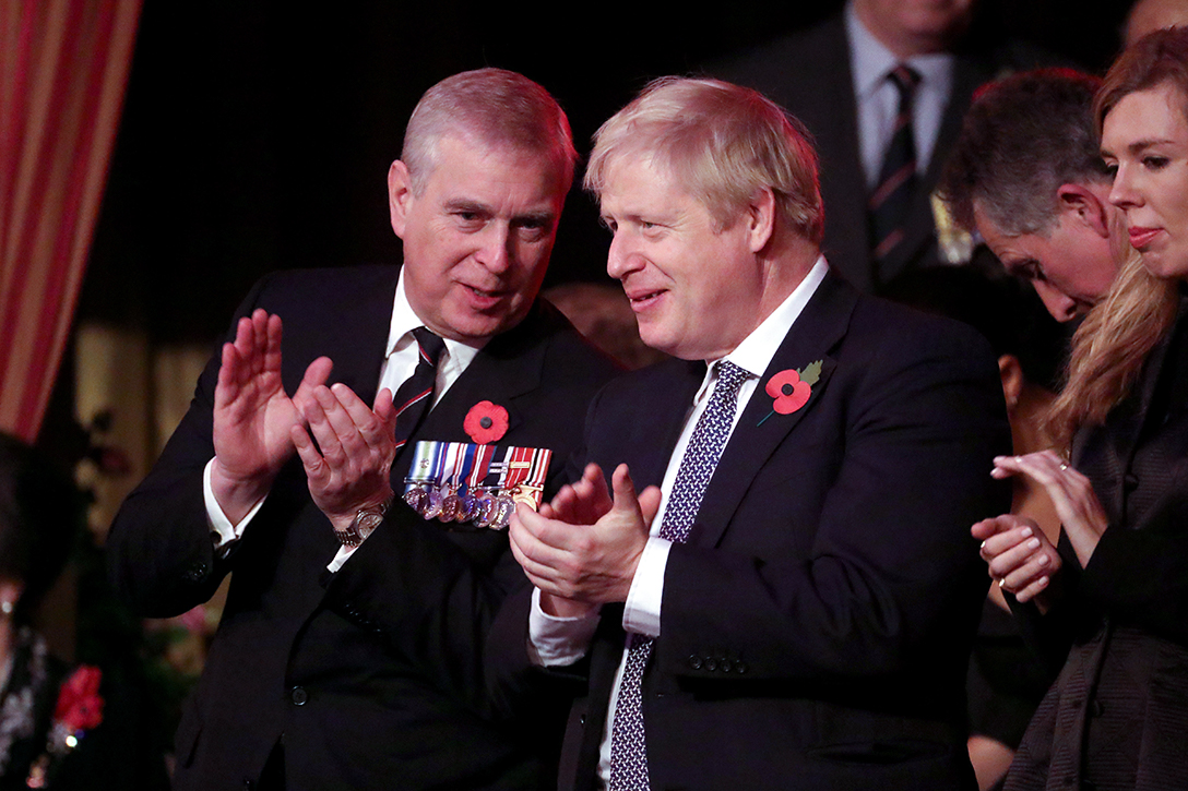 Prince Andrew, Boris Johnson