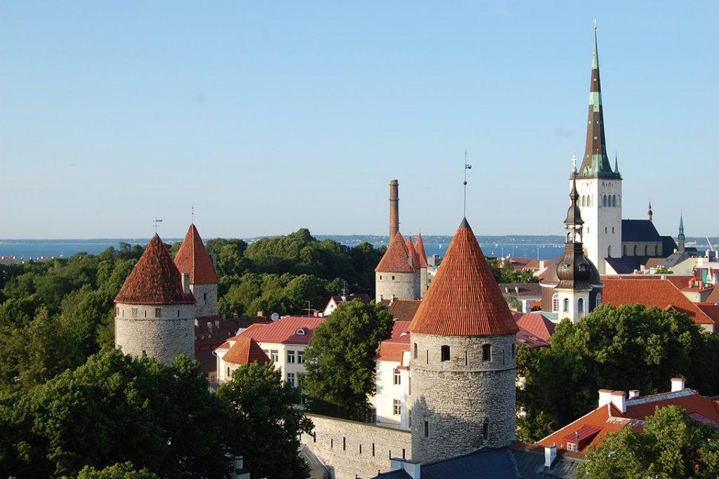 Tallinn, Estonia, city wall