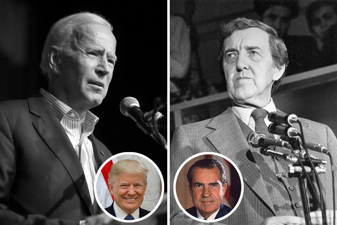 Joe Biden, Edmund Muskie, Donald Trump, Richard Nixon