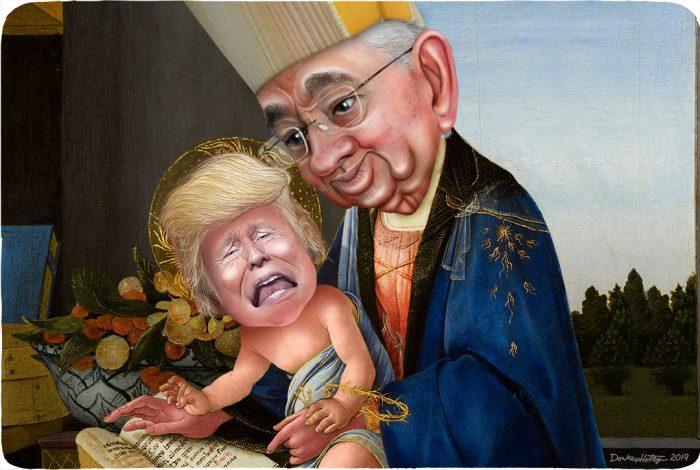 Archbishop José H Gomez, Donald Trump, Madonna