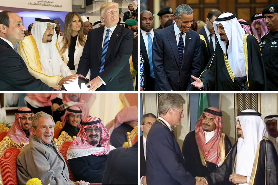 Donald Trump, King Salman, Barack Obama, George W Bush, King Abdullah, Bill Clinton