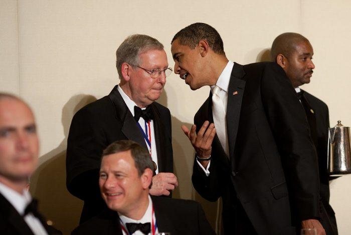 Barack Obama, Mitch McConnell, John Roberts, Alfalfa Club