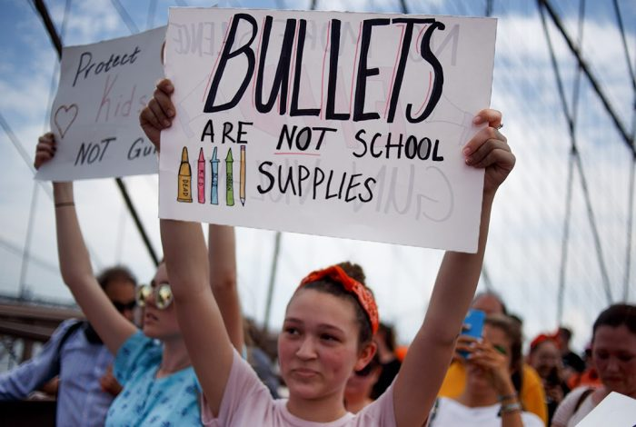 Bullets Are Not School Supplies, protest