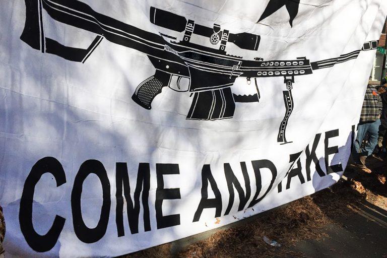 Richmond, gun rights, protest