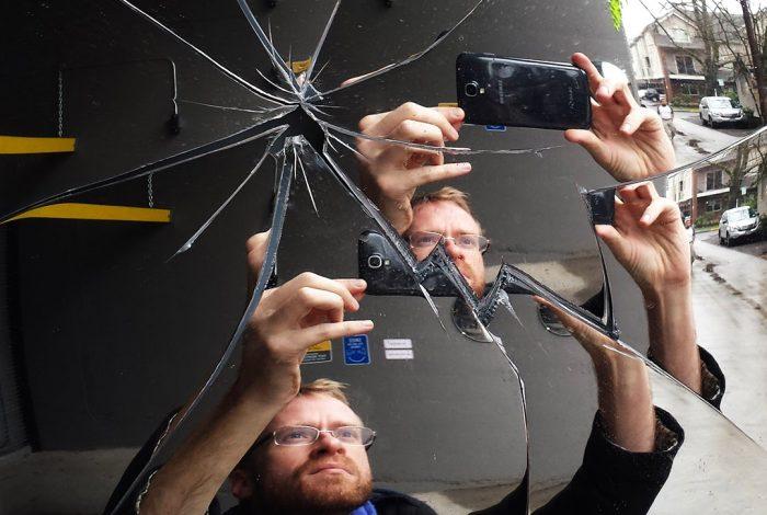 information, cracked mirror