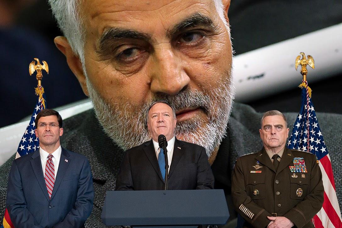 Mark Esper, Mike Pompeo, Gen. Mark A. Milley, Qasem Soleimani