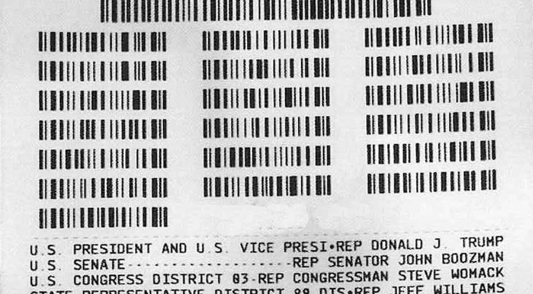 ExpressVote, barcode