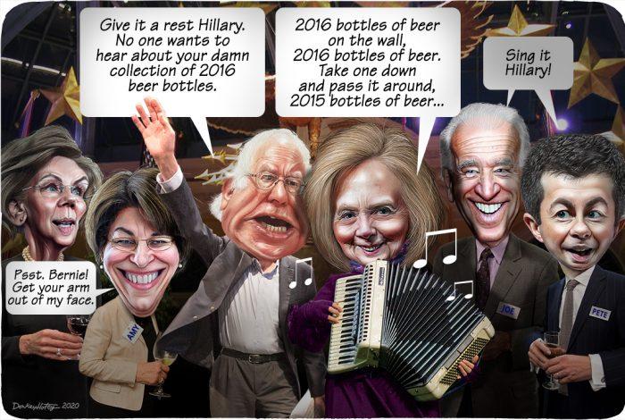 Elizabeth Warren, Amy Klobuchar, Bernie Sanders, Hillary Clinton, Joe Biden, Pete Buttigieg