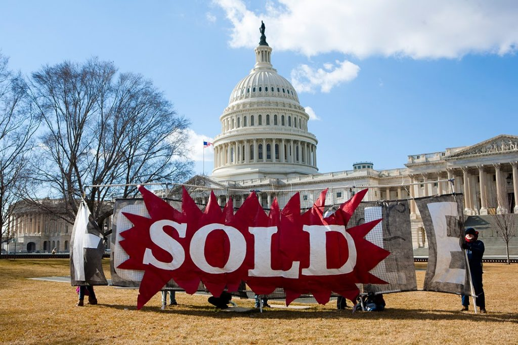 US Capitol, government, sold