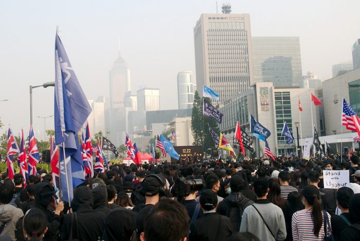 Uighur rally, Hong Kong