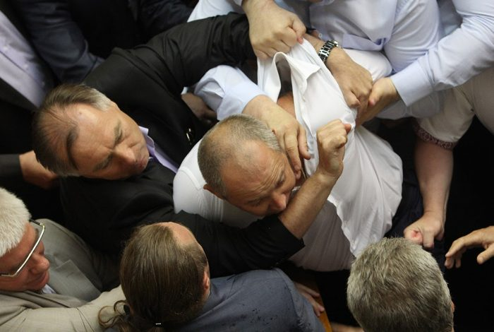 Ukraine, parliament, fight