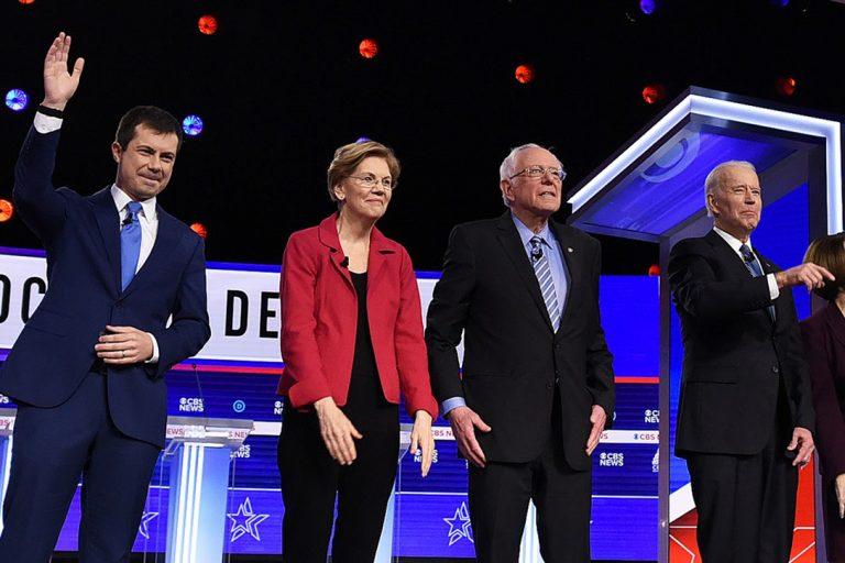 Pete Buttigieg, Elizabeth Warren, Bernie Sanders, Joe Biden