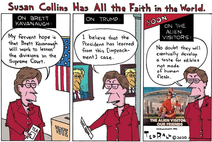 Ted Rall, cartoon