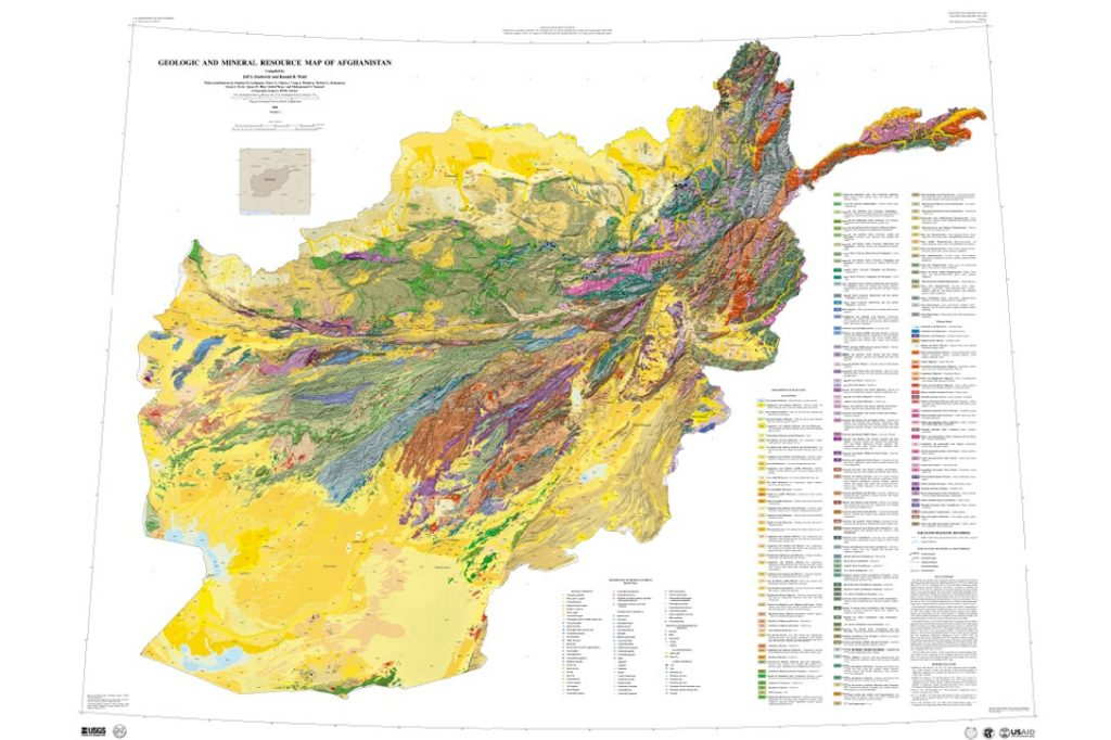 USGS, Afghanistan, resources, map