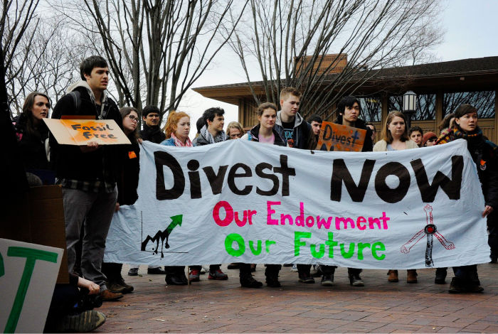 climate change, fossil fuels, student push