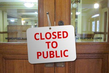 closed to public